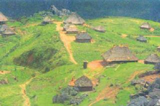 Contoh pola pemukiman berdasarkan kesuburan tanah (tersebar) (Sumber: Indonesian Heritage)